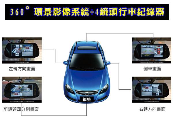 360度行車影像輔助系統+行車紀錄器
